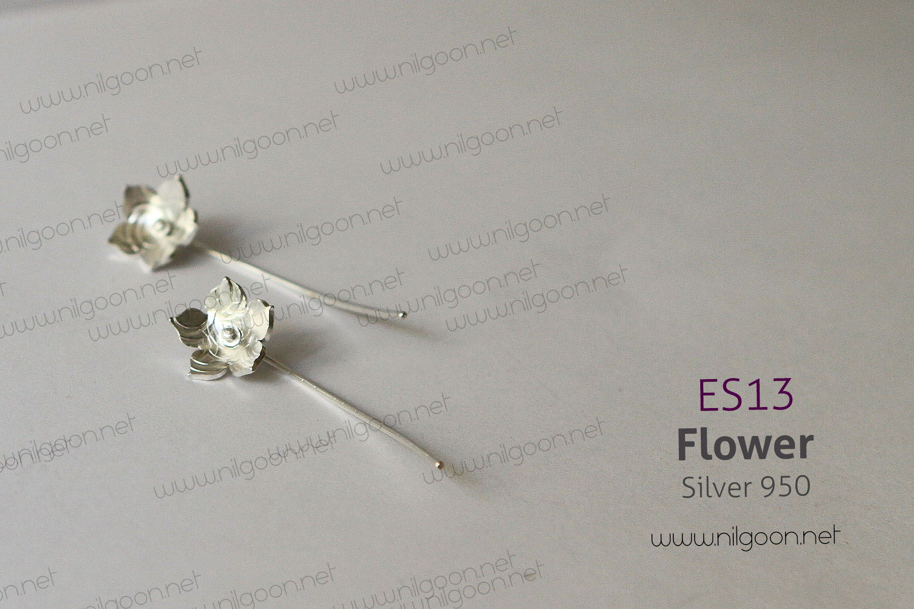 گوشواره نقره Flower