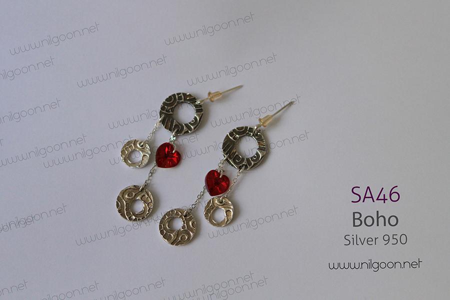 گوشواره نقره Boho