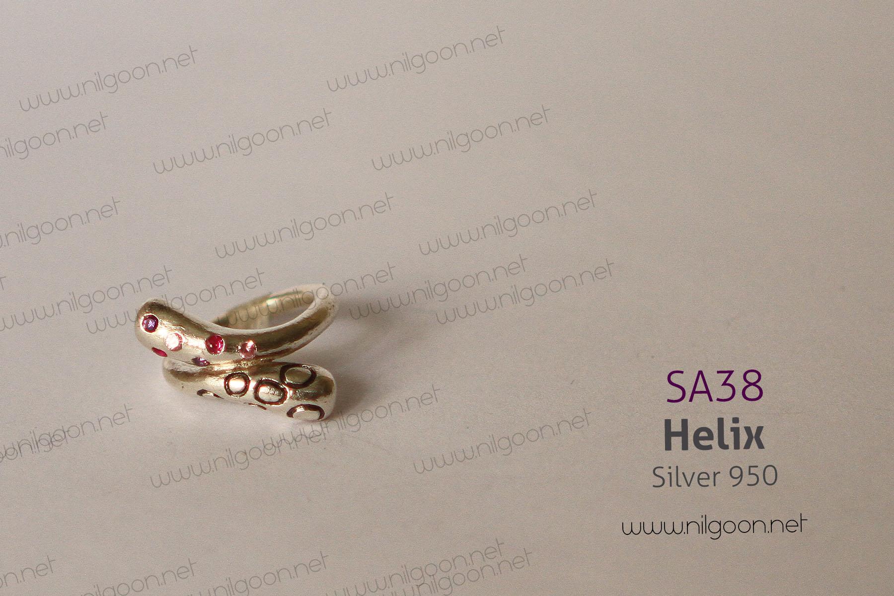 انگشتر نقره Helix
