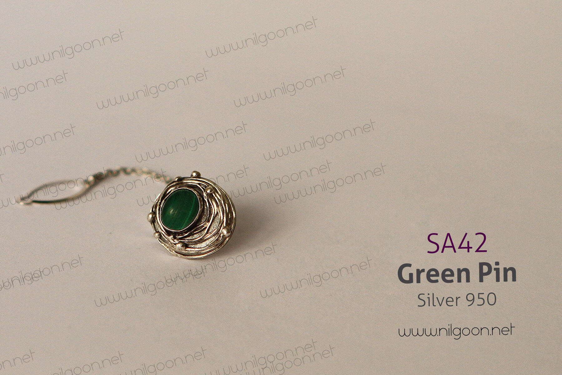 سایر نقره Green pin