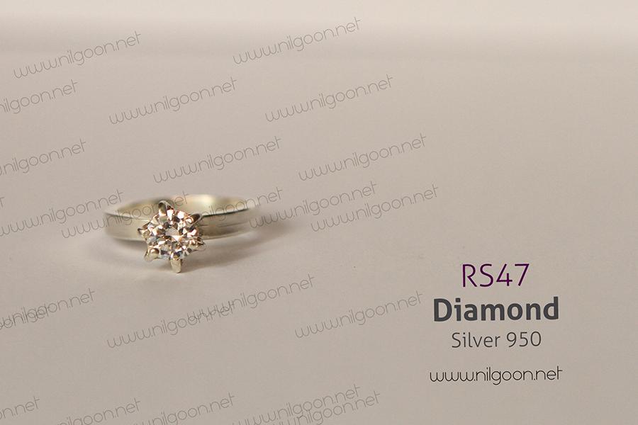 انگشتر نقره Diamond