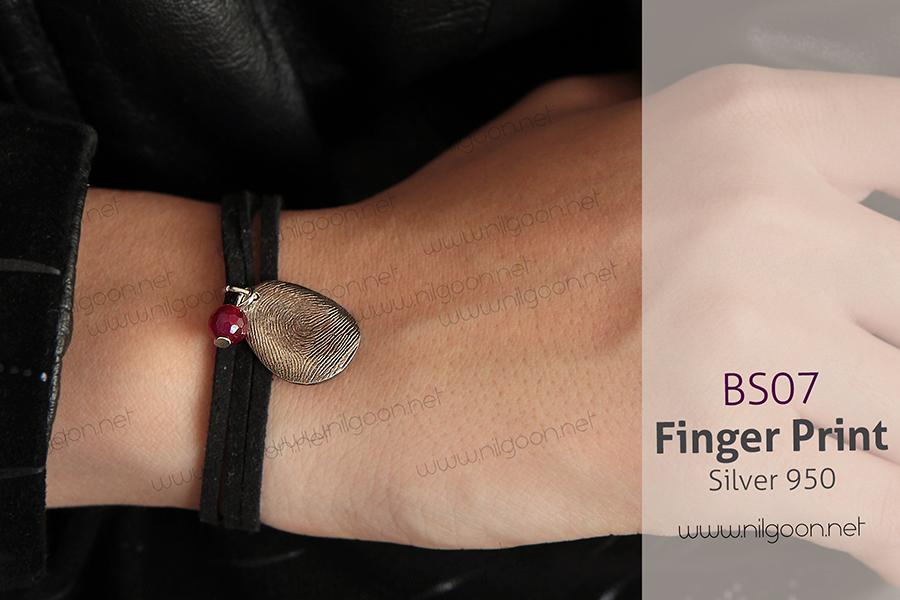 دستبند نقره اثر انگشت