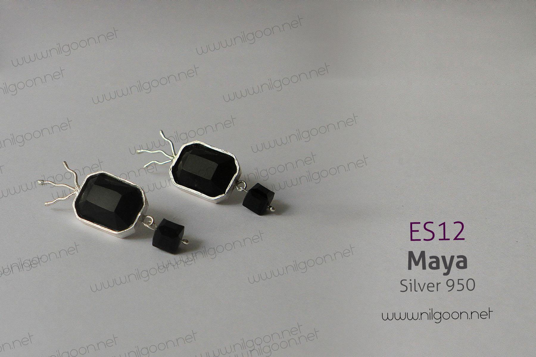 گوشواره نقره Maya