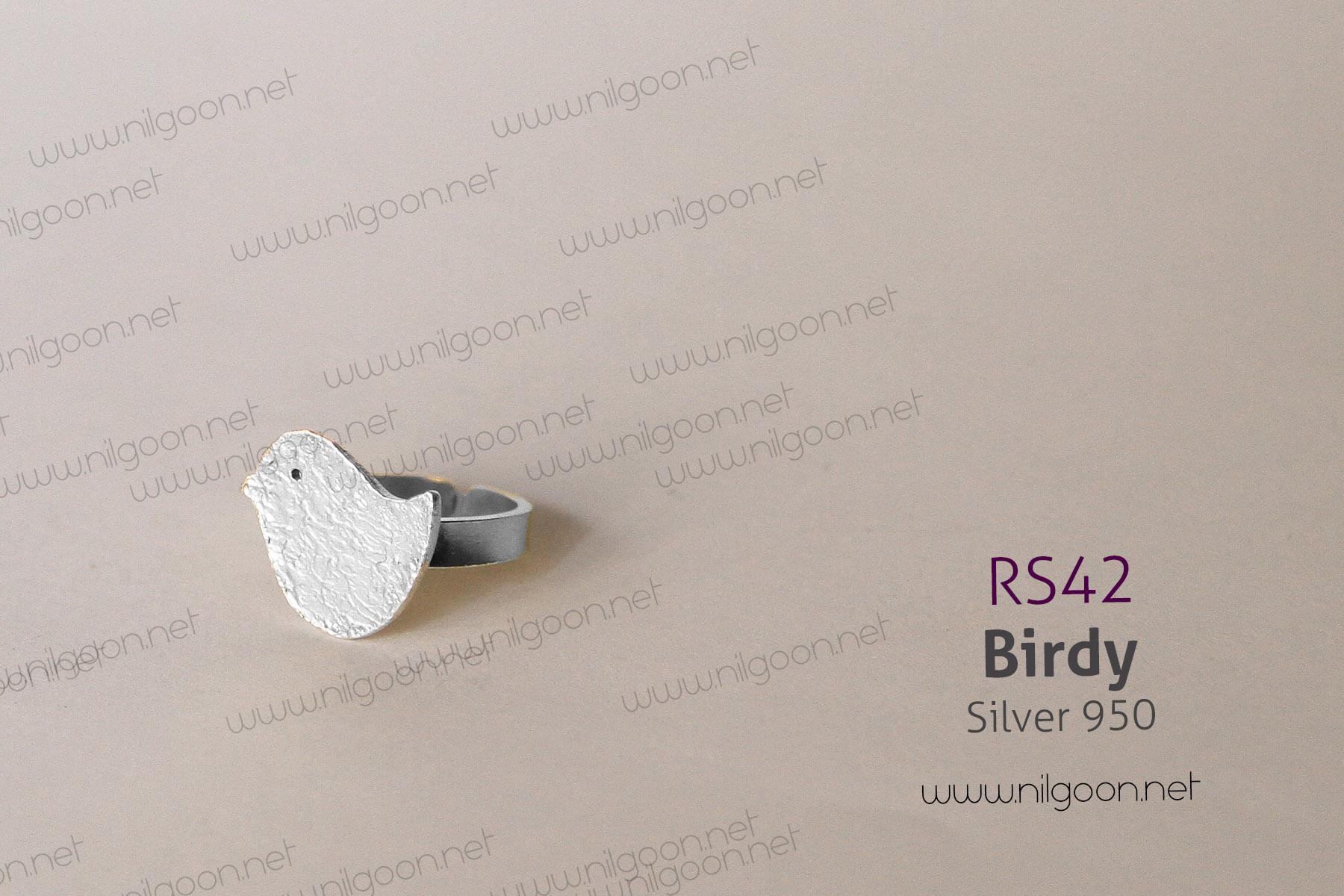 انگشتر نقره Birdy