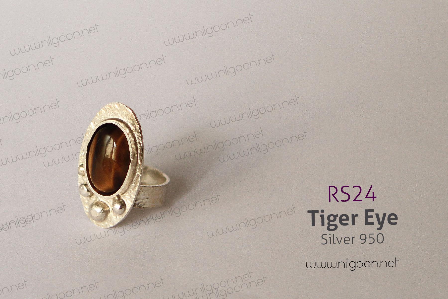 انگشتر نقره Tiger Eye